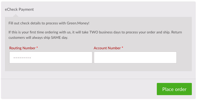 eCheck Payments for Kratom